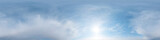 360 degree sky panorama blue sky and surging clouds