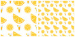 Melon or lime or orange seamless pattern on transparent background - 182495094