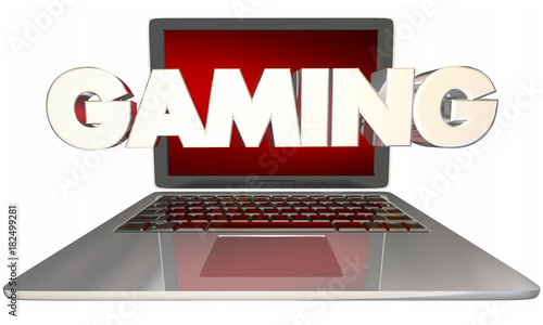 Gaming Laptop Computer Play Online Games 3d Illustration