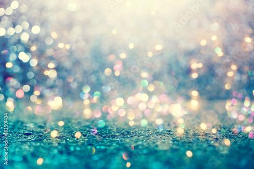 Leinwanddruck Bild Beautiful abstract shiny light and glitter background