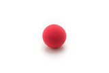Small Red Sponge Ball, on White Background