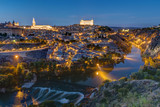 The old city of Toledo in Spain at night - 182503653