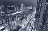 Aerial view of Hong Kong city at night - 182504081