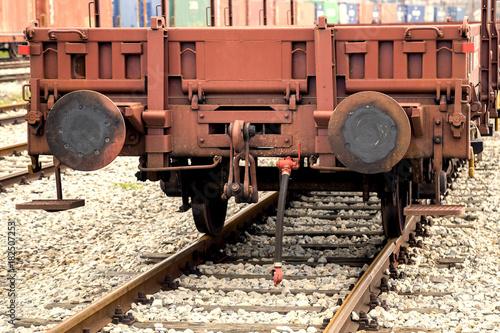 Old railway cargo wagon 2 Poster