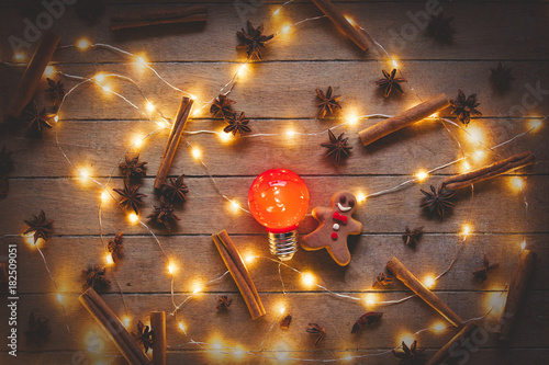 Christmas illuminations and cookie