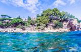 Seascape at Costa Brava, Catalonia, Spain - 182509482