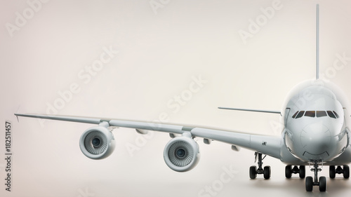 Front of plane. 3d rendering and illustration.