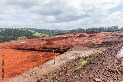Construction Site Earthworks Foundations Layout