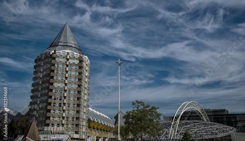 In de dag Rotterdam Quartier de Blaak à Rotterdam, Pays-Bas