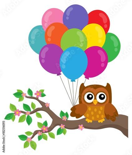 Papiers peints Enfants Party owl topic image 4