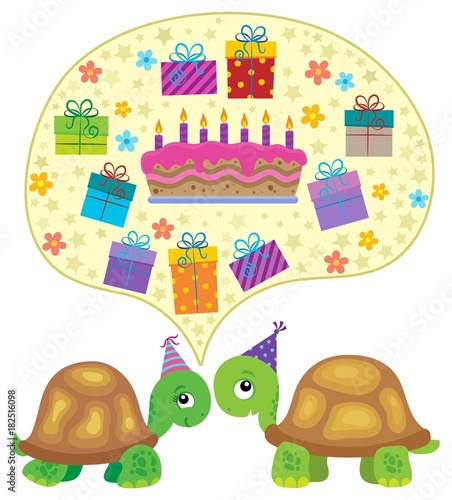 Foto op Canvas Voor kinderen Party turtles theme image 3