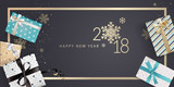 New Year greeting card. Luxurious vector illustration concept for greeting cards, web banner, flayer brochure, party invitation card. - 182521837