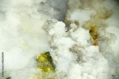 Tuinposter Bali Bali Volcano Agung Ijen flames erupting