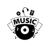 vector logo music - 182529666
