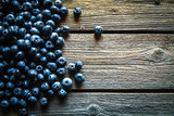 Blueberry on Wooden Background. Fruits, food, organic
