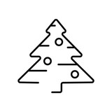 Christmas tree icon. Modern style. Linear