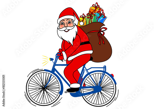 Babbo Natale In Bicicletta.Babbo Natale In Bicicletta Buy Photos Ap Images Detailview