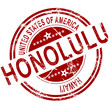 Honolulu stamp with white background
