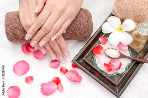Keuken foto achterwand Spa Hands Spa.Manicure concept
