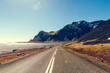 Quadro Road in Iceland. Spring time.