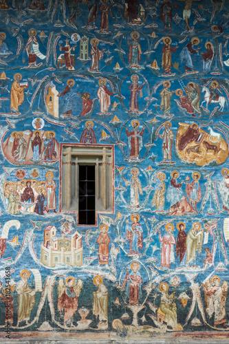 Keuken foto achterwand Graffiti Voronet Monastery in Bucovina, Romania