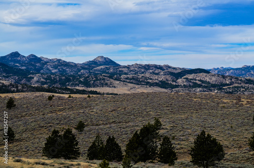 Foto op Canvas Zwart A Wyoming Country Landscape 2