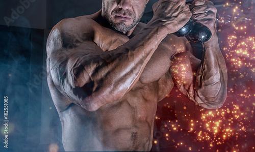 Plexiglas Fitness trainning man