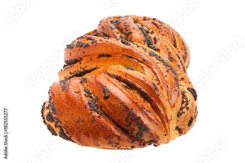Fotobehang Klaprozen Sweet bun with poppy seed