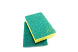 Sponges for dishwashing on white background, Scotch Brite dishwashers - 182556481
