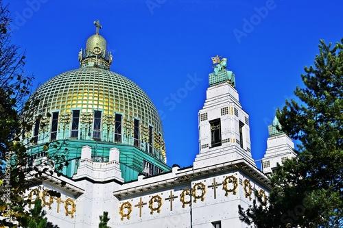 Fotobehang Wenen Kirche am Steinhof, Wien