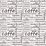 seamless background. Set of coffee. Template and concept for caf