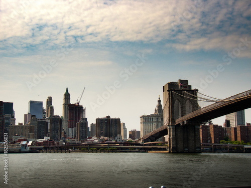 Staande foto New York Brooklyn Bridge Perspective View