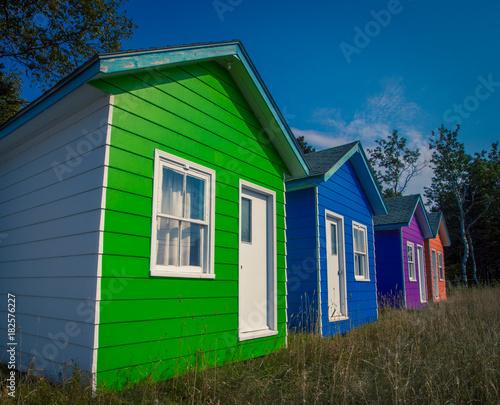 Keuken foto achterwand Canada colourful cottages quebec