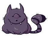 Cute monster cat smile