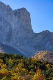 The Faraut Mountain (Faraut Breccia) in Champsaur in Fall. Hautes-Alpes, Southern French Alps, France - 182576850