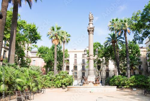 Foto op Canvas Barcelona Square of Duc Medinaceli, Barcelona at summer day, Barcelona, Catalonia Spain
