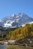Unique View of Maroon Bells during Fall 2017