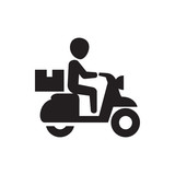 delivery bike icon illustration