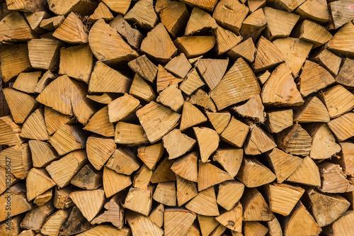 Staande foto Brandhout textuur Brennholz gestapelt