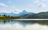 Green water Weissensee lake in Alps Mountains - 182585827