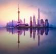 Quadro Shanghai skyline cityscape