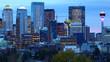 Calgary, Alberta skyline after dark