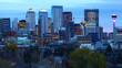 Calgary, Canada city center after dark