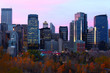 Twilight view of Calgary, Alberta skyline