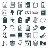 Set of 36 note filled and outline icons - 182593612