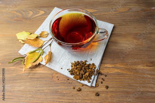 Therapeutic tea with Chaga mushroom. - 182599098