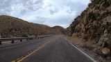 California Anza Borrego desert mountain road driving with car mount on route S2. - 182599868