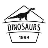 Dinosaur logo, simple black style
