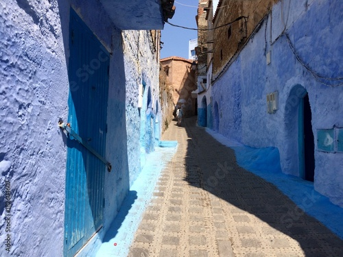 Plexiglas Smalle straatjes Marokko