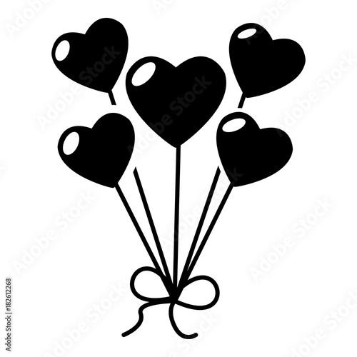 Balloon icon, simple style